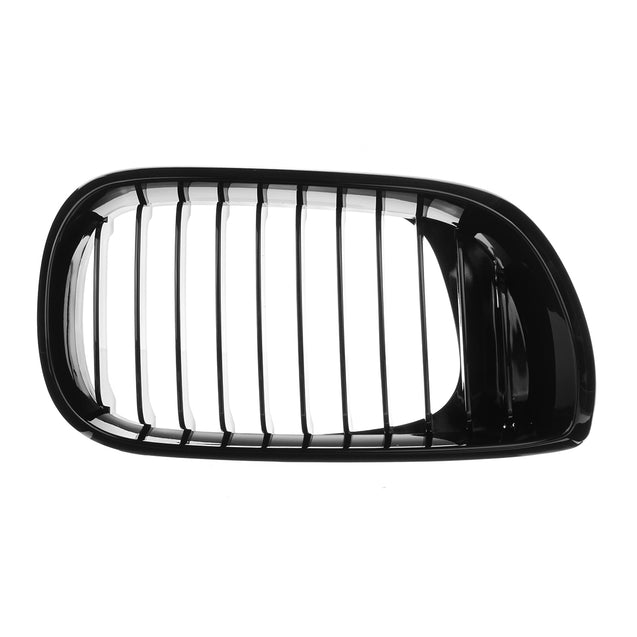 Gloss Black Kidney Front Grille For BMW E46 3Series 4-DOOR 4D 02-05 LCI Facelift