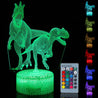 3D Illusion Night Light Touch Remote Control Home Decor Table Desk Lamp