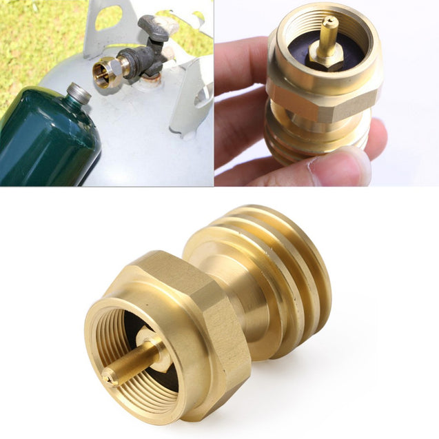 Outdoor Camping BBQ Cooking Stove Conversion Adapter 1LB Propane Tank Refill Adapter
