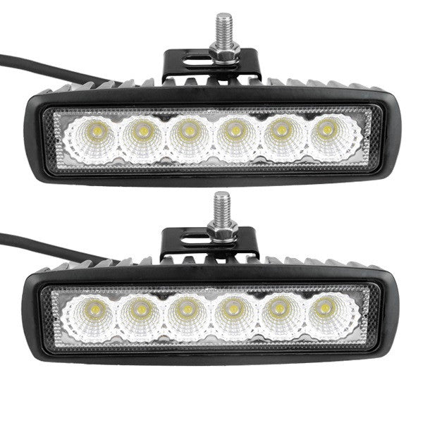2Pcs 6500K 1440Lm 18W 6.3inch Aluminum Alloy Car Work Light LED Cross Country Lamp