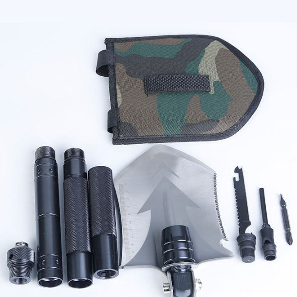 IPRee 18 In 1 Outdoor Tactical EDC Folding Shovel Multifunctional Tools Kit Camping Survival