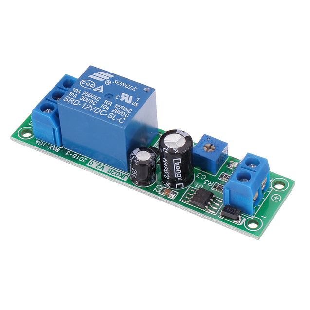 JK02B 12V DC Delay Relay Module 0-200S Adjustable Delayed Closure Timer Delay 10A NE555