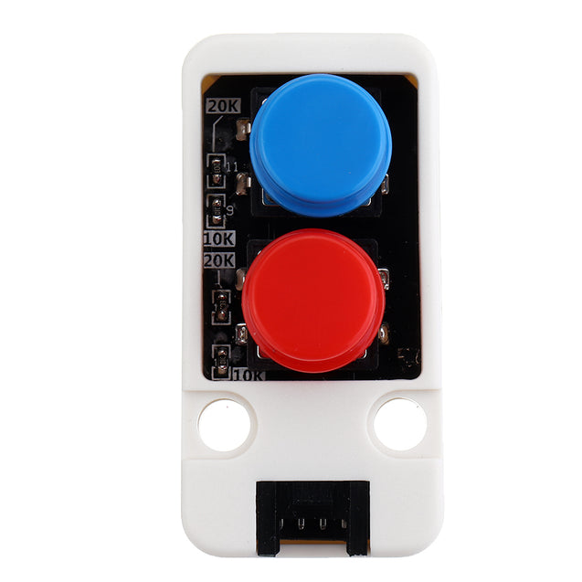 10pcs Mini Dual Push Button Switch Unit with GROVE Port Cable Connector Compatible with FIRE /M5GO ESP32 Micro