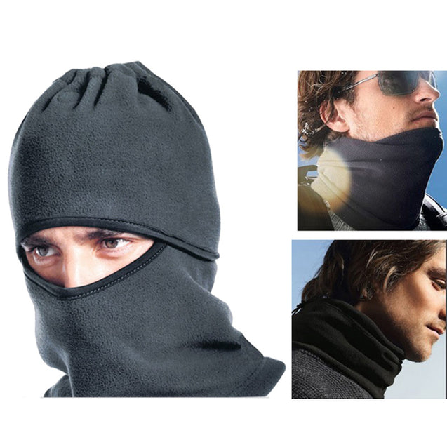 Fleece Sport Cycling Mask Snowboard Neckerchief Full Mask Outdoor Running Mask Windproof Black Hat