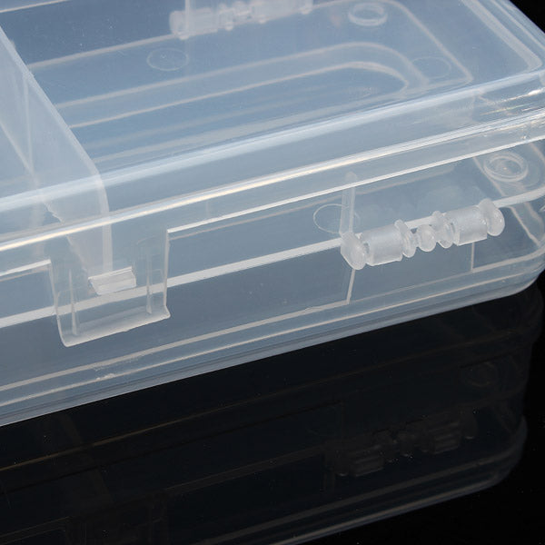 Multifunctional Transparent Plastic Fishing Tackle Box Fishing Lure Hooks Storage Box