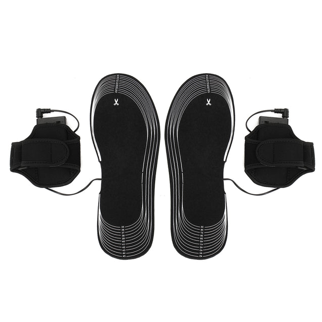 Black Battery Electric Heated Shoe Insoles Winter Warming Outdoor Foot Heater Breathable Deodorant