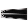 15x86cm Black Car Truck Decal Vinyl stickers Hood Decals Racing Stripe