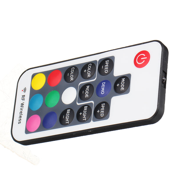 F17 Key Controller Mini Wireless LED Colorful Lights Remote Control Switch with Light Bar Radio Frequency Controller for Smart Home