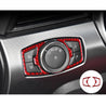Carbon Red Headlight Switch Button Frame Trim Cover For Ford Mustang 2015-2019