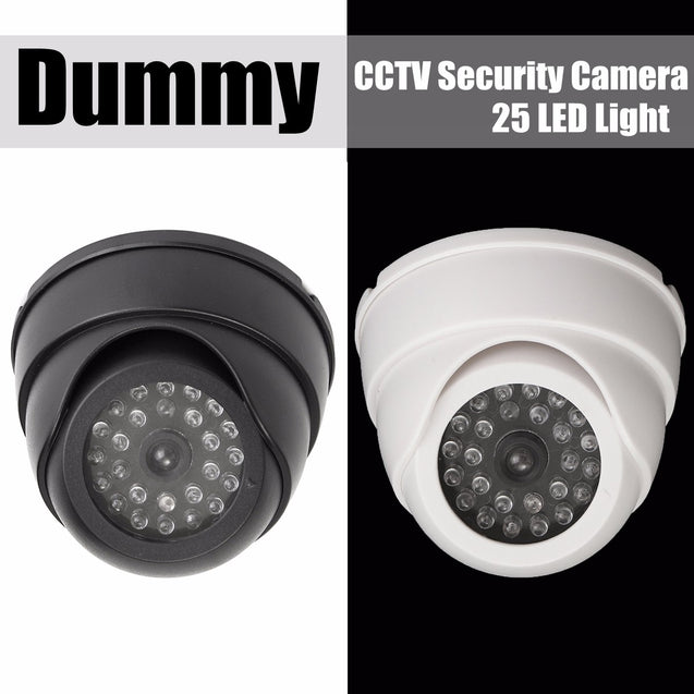 25 LED IR Color Night Video Dome Fake CCTV Camera Home Security Surveillan