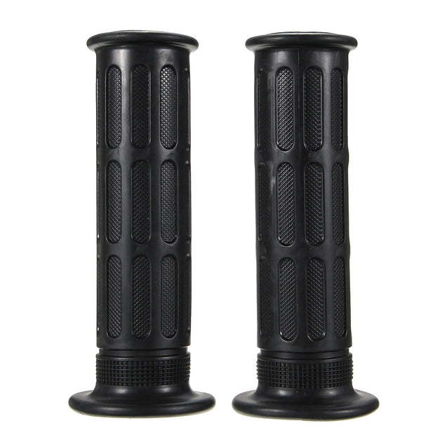 Pair 22mm 7/8inch Motorcycle Bike Handlebar Hand Grips Bar End Unverisal Black