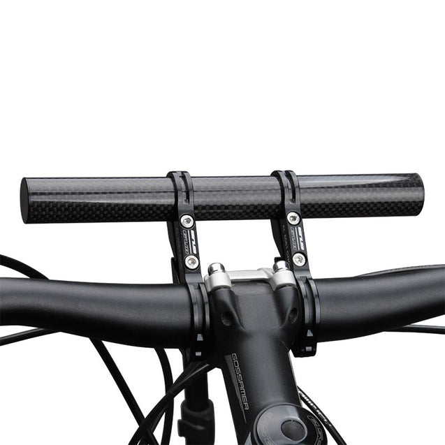 GUB G-202 Bicycle Bike Double Handlebar Extension Mount Carbon Fiber Extender Light Lamp Holder