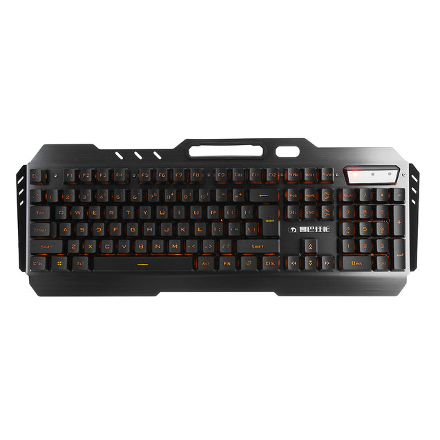 USB Wired Yellow LED Backlight Mechanical Handfeel Gaming Keyboard and Mouse Combo