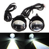 2pcs 5W Xenon White LED DRL Daytime Running Car Off Road Fog Light Waterproof Projector