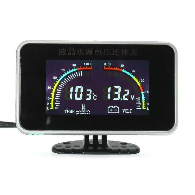 12/24V Car Universal LCD 2 in 1 Gauge Electronic Digital Gauges