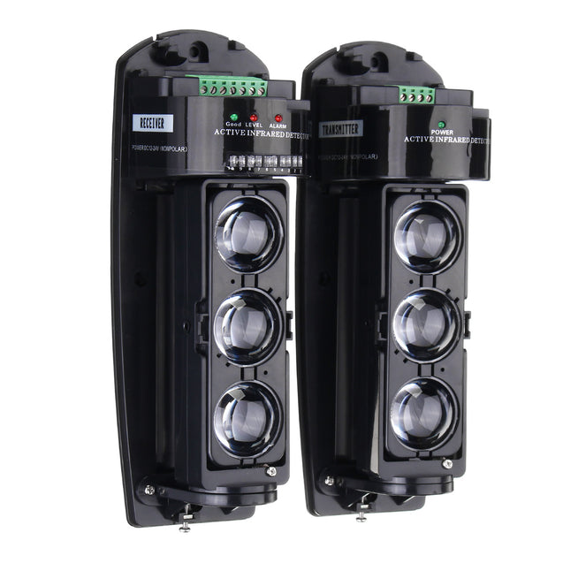 250M Alarm Triple Beam Photoelectric Infrared LED Detector Home Garden Security System