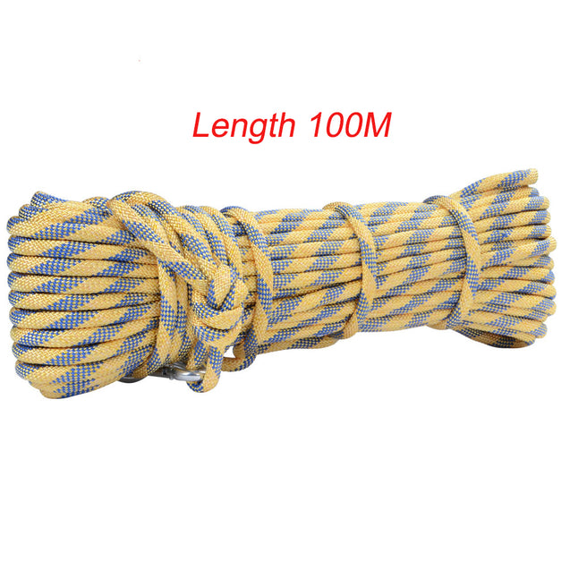 Xinda 100M Mountain Rock Climbing Rope Diameter 8mm Accessory String Cord For Downhill Rescue Survival