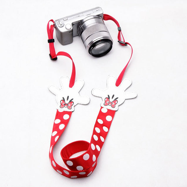 Multicolor Polka Dot Cartoon Neck SLR Camera Strap Personality Wistbands