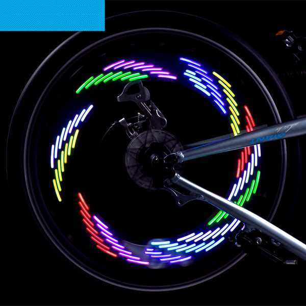 7LED Full Color Bike Silica gel Spoke Light MTB Steel Wire Lamp