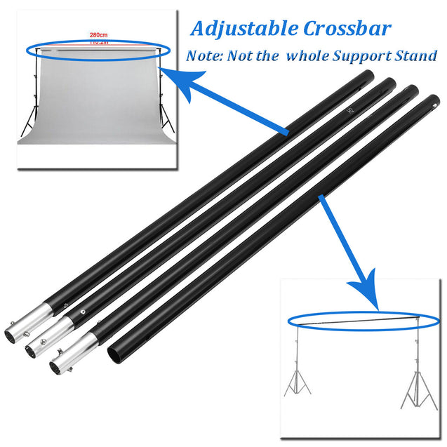 2.8m/9.2ft Photography Background Backdrop Support Stand System Adjustable Crossbar