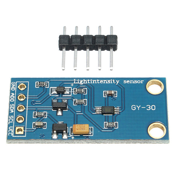 5pcs GY-30 3-5V 0-65535 Lux BH1750FVI Digital Light Intensity Sensor Module For Arduino