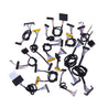 42pcs Commonly LCD LVDS Screen Cable For 10-65 Inch Screen Monitor Repair Driver Board Universal Cable