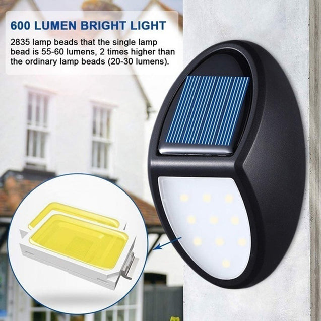 10LED Solar Power Wall Light Waterproof Outdoor Garden Yard Lamp Pathway