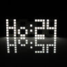 3D Remote Control Jumbo Digital LED Wall Clock For Home Living Room Office 24 Or 12 Hour