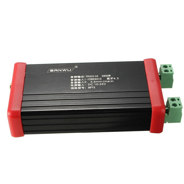 HIFI bluetooth 5.0 Receiving Amplifier Box 2X50W Output Wireless bluetooth Amplifier HF72