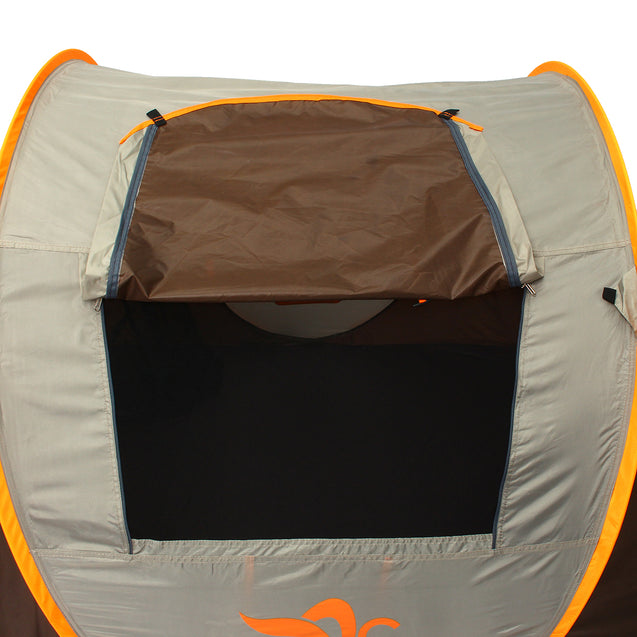 Outdoor 3-4 Persons Camping Tent Automatic Open Rainproof Single Layer Sunshade Canopy