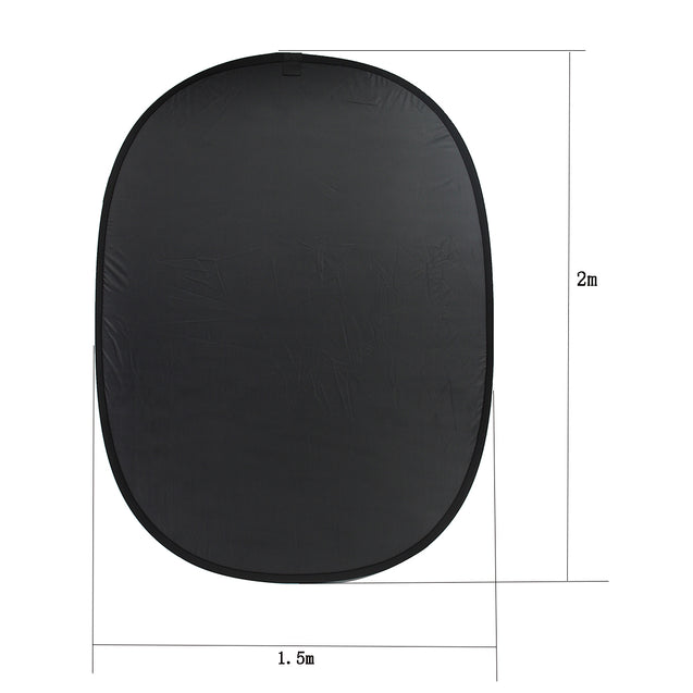 2mx1.5m Background Cloth Photography Board Studio Screen Black/White Backdrop Studio Props