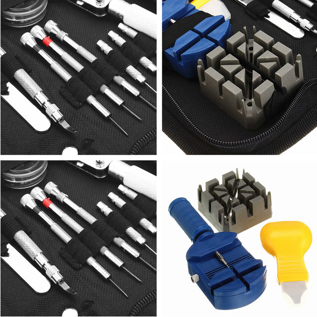371pcs Watch Repair Tool Kit Watchmaker Opener Remover Spring Pin Bar With Case