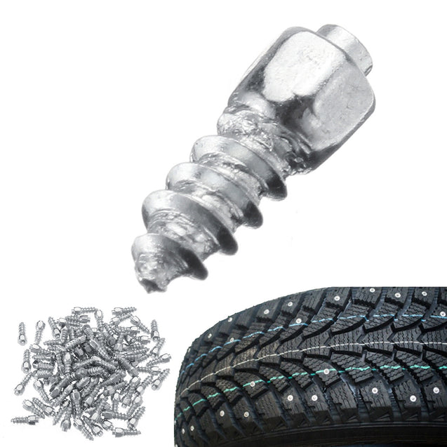 100PCS Universal Car Tire Stud Screw Non-slip Metal Snow Ice Spikes Racing Track
