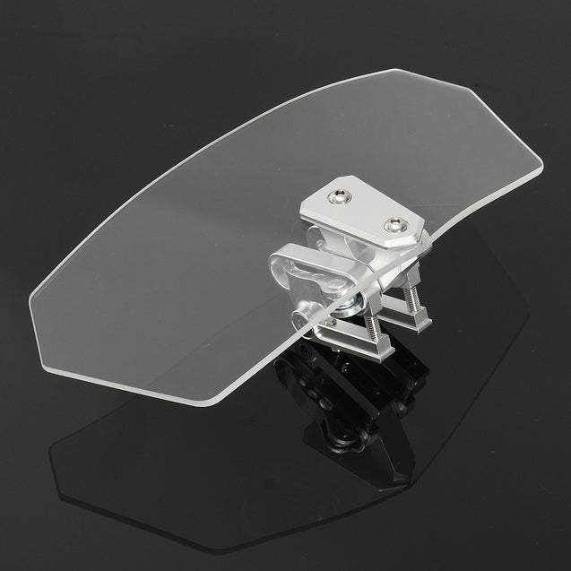 Motorcycle Universal Clear Wind Shield Windscreedn Screen Protector Sport Bike