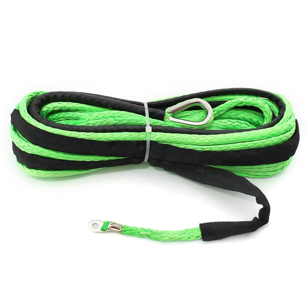 15m 7000LB Nylon Rope Winch Tow Cable Line with Sheath for ATV SUV Off Road