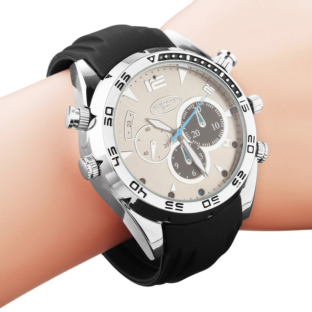 1080P HD IR Waterproof Camera Watch Night Vision Rechargeable Hidden Video Recorder