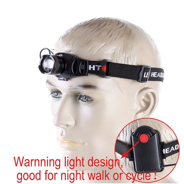 Q5 LED Headlamp Light Zoom Zoomable Headlight Headlamp Torch