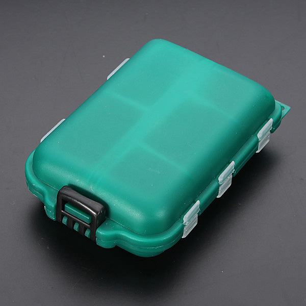 Bobing Fishing Tackle Box 10 Compartments Lure Spoon Hooks Baits Case
