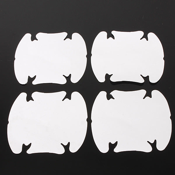 4Pcs Car Door Wrist Handles Protective Film Vinyl Stickers Transparent