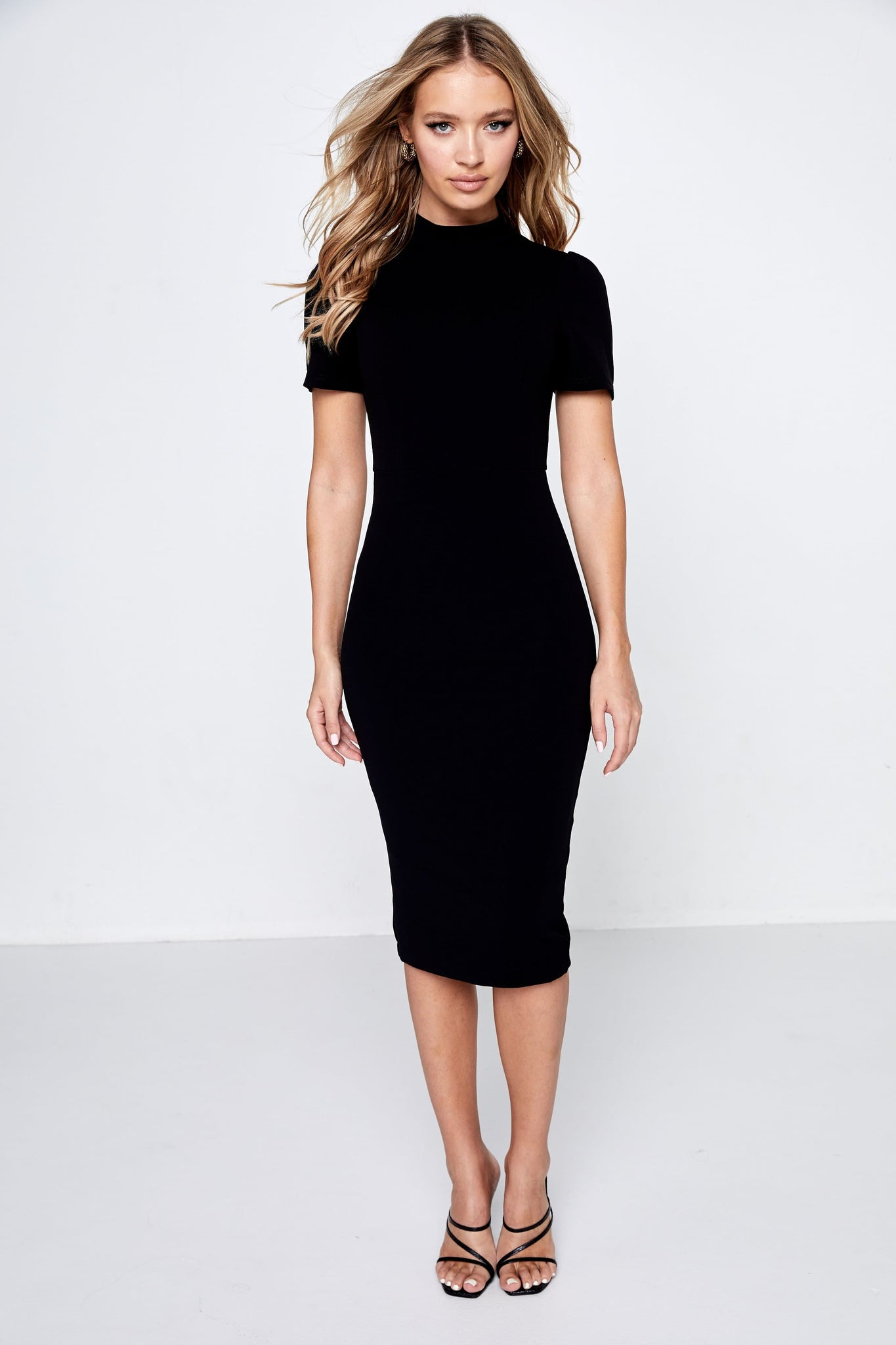 Mossman Black Midi Dress A Moment In Time Front
