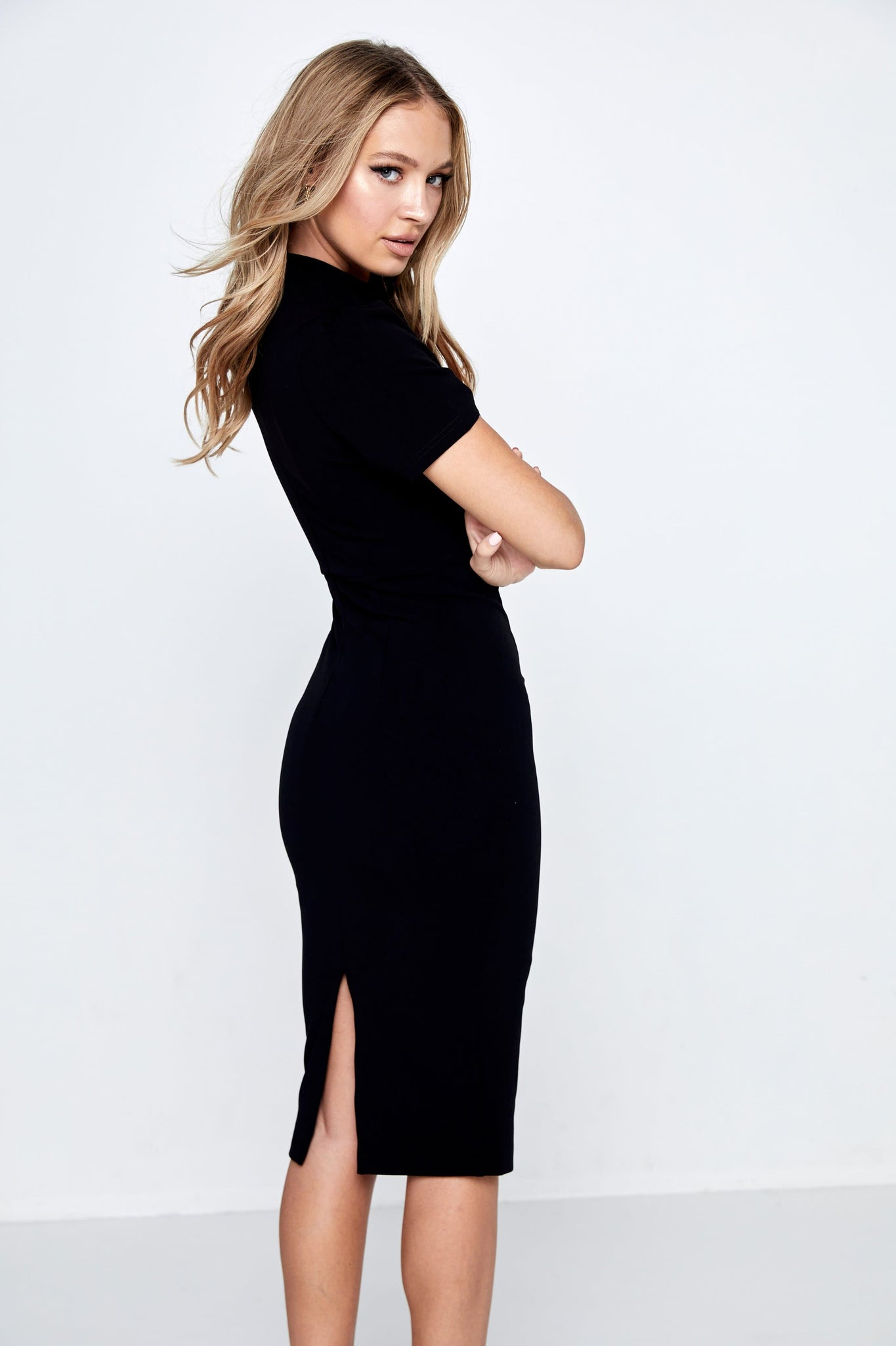 A Moment In Time Midi Dress Mossman Black Back