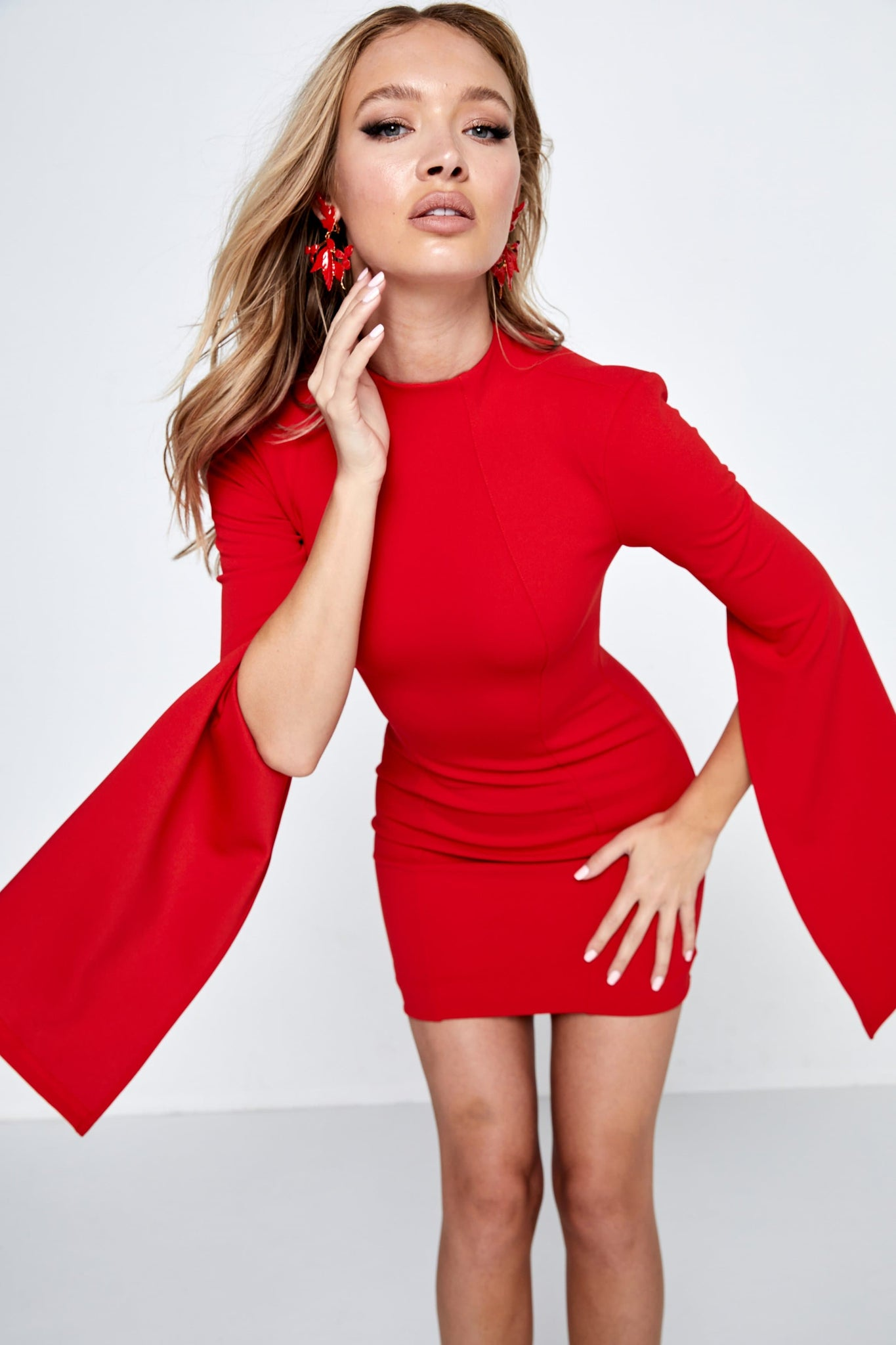 Mossman Sense Of Mystery Red Mini Dress
