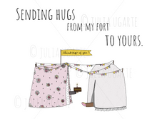 Load image into Gallery viewer, Sending Hugs From My Fort to Yours Neutral Note Card