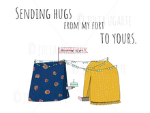 Load image into Gallery viewer, Sending Hugs From My Fort to Yours Note Card