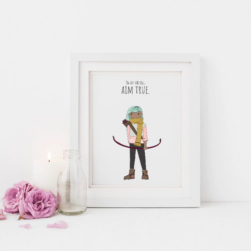 In All Things Aim True 5x7 Print