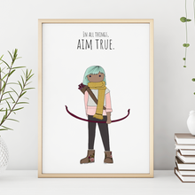 Load image into Gallery viewer, In All Things Aim True 11x14 Print