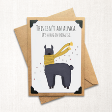 Load image into Gallery viewer, Alpaca Hug in Disguise Note Card