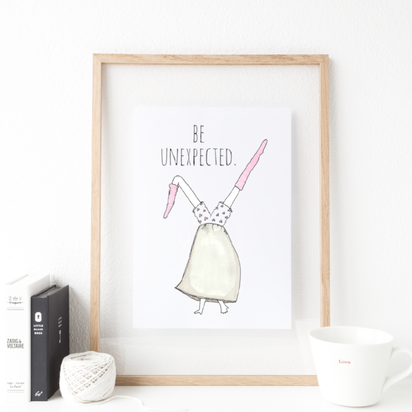 Be Unexpected 8x10 Print