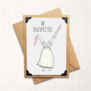 Be Unexpected Note Card