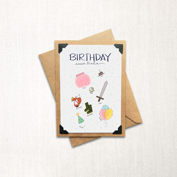 Birthday Essentials Note Card